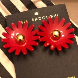 LeLe Sadoughi Daisy button earrings